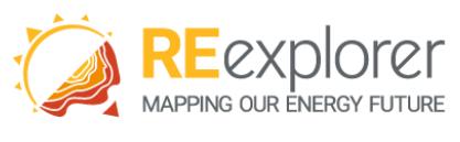logo for red-e renewable energy data explorer tool