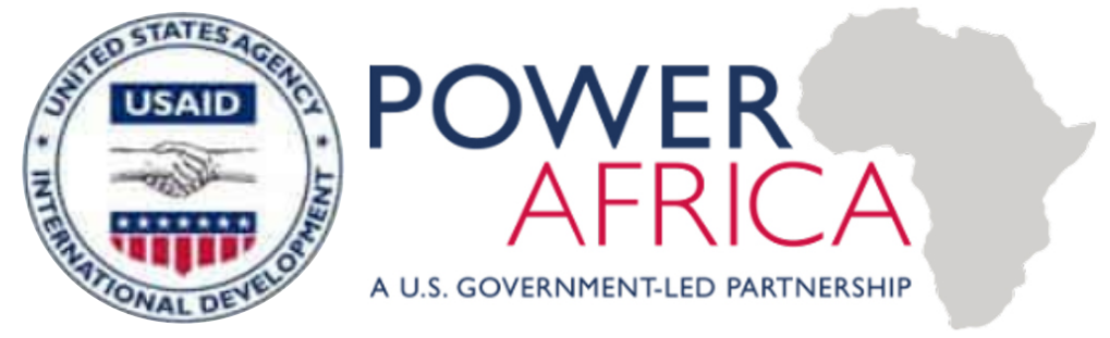 The USAID logo merged with the USAID Power Africa logo