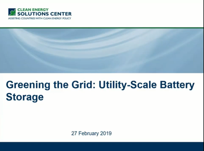 Greening the Grid: Utility-Scale Battery Storage