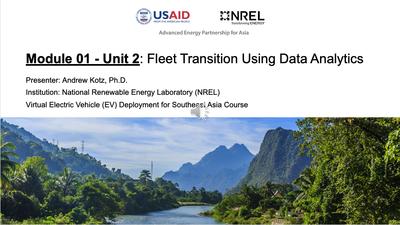 Module 1, Unit 2 — Fleet Transition using Data Analytics