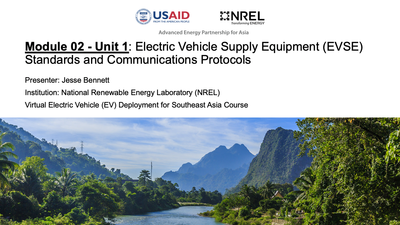Module 2, Unit 1 — Electric Vehicle Supply Equipment Standards and Communication Protocols