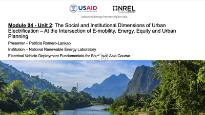 Module 4, Unit 3 — The Social and Institutional Dimensions of Urban Electrification