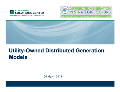 Utility-Owned Distributed Generation Models
